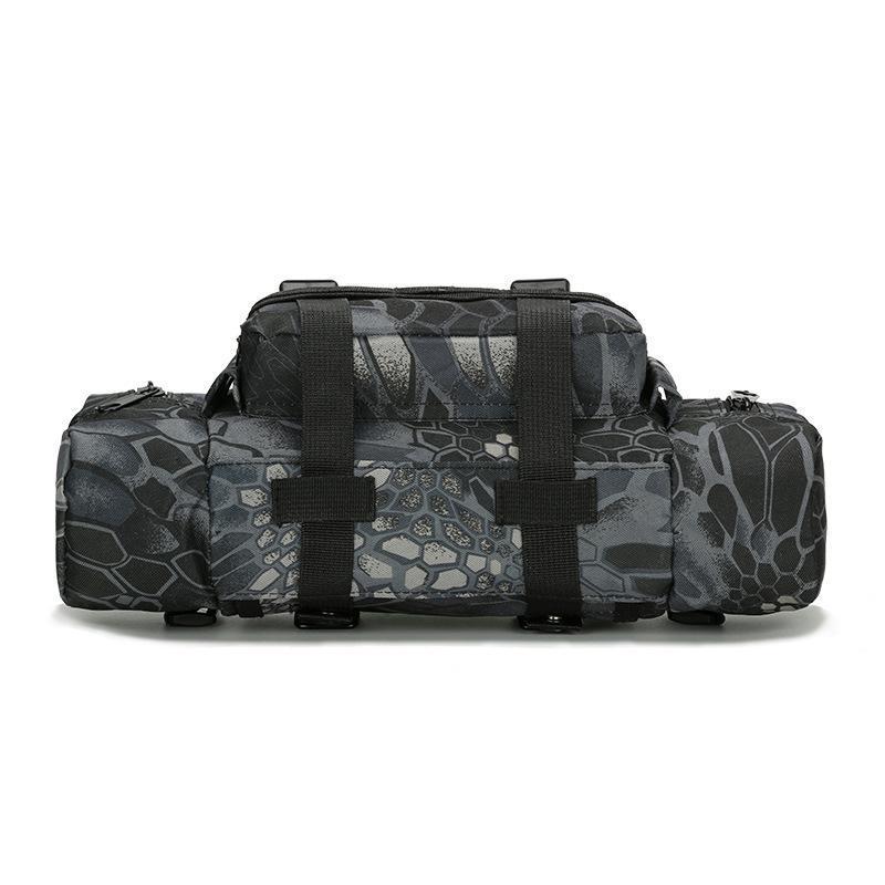 2021 Camuflaje Hombres Fanny Pack Bags Bags Cámara A prueba de agua Cintura Bolsa de cintura Oxford Nuevo Hombres Bolsa Multifunción Viaje Unisex MJRHP