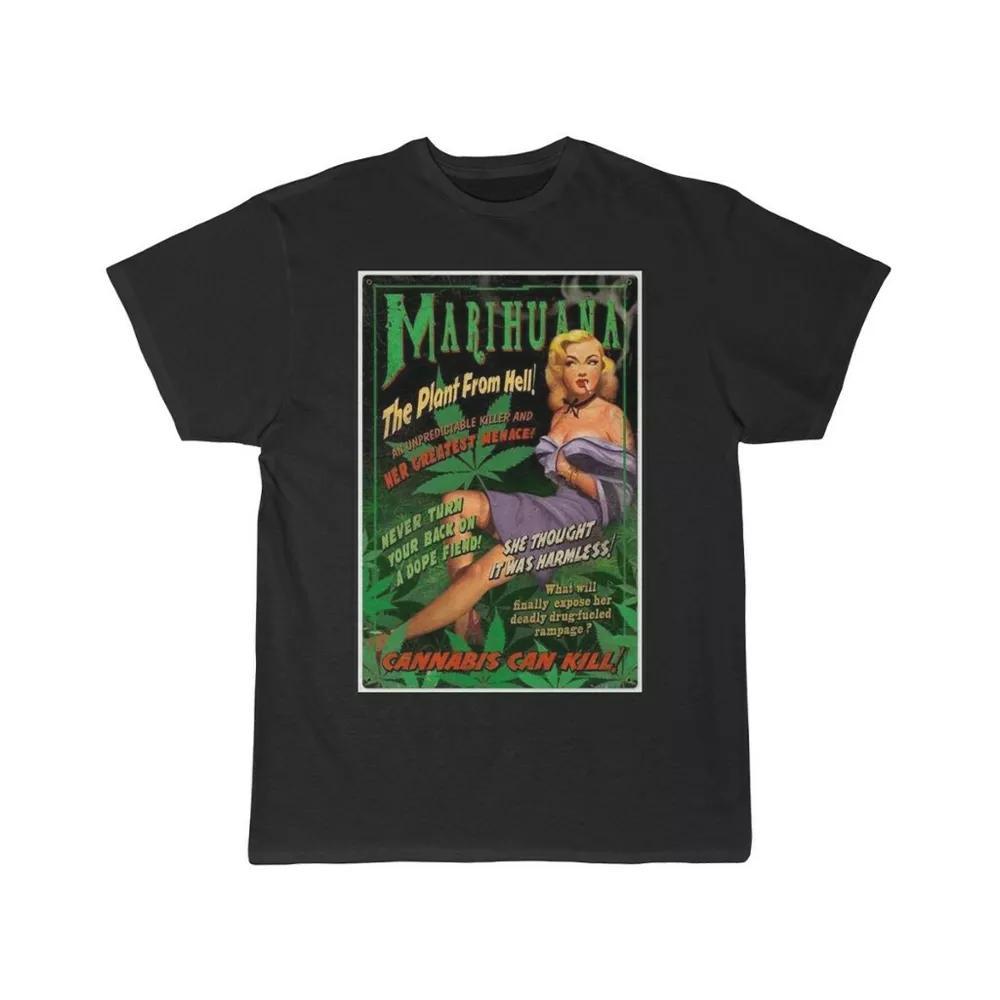 Marihuana Marihuana Propaganda Poster Herren Kurzarm T-Shirt