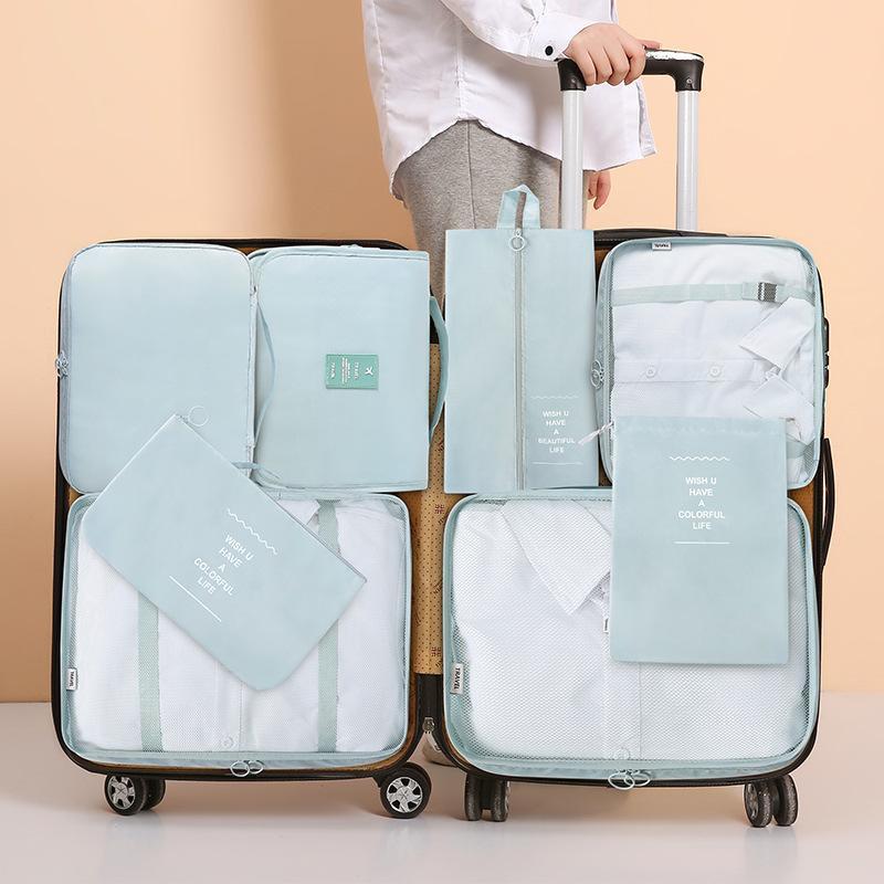Sacos de armazenamento Saco de viagem coreano conjunto de seis e sete bagagem multifuncional lavando 678 peças.