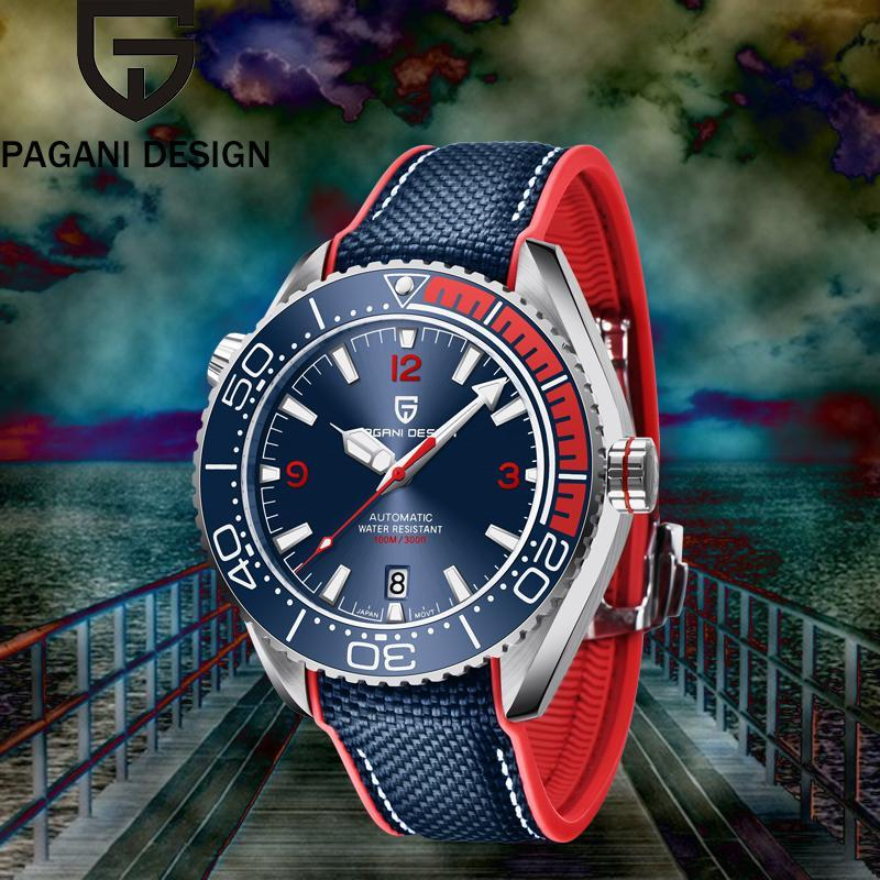 Top Brand Men's Ocio Reloj automático NH35A Acero inoxidable 100M Impermeable Mecánico Relogio Masculino Relojes de pulsera