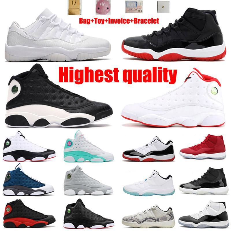 Scarpe da basket Jumpman 11s Legenda bianca Nord Carolina Big Devil Top Quality 13s Royal Blue Terracotta Guerrieri Oreo Chicago Uomini e donne Sport 36-46