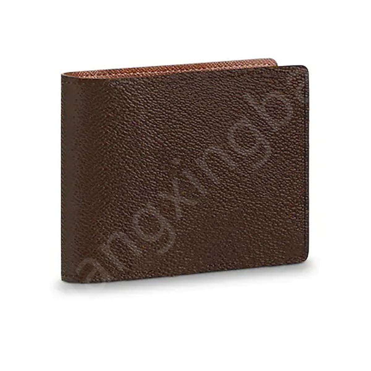 M60895 designer de luxo masculino curto compacto compacto wallet mono grameiros de longa marca marca bifold wallets de boa qualidade