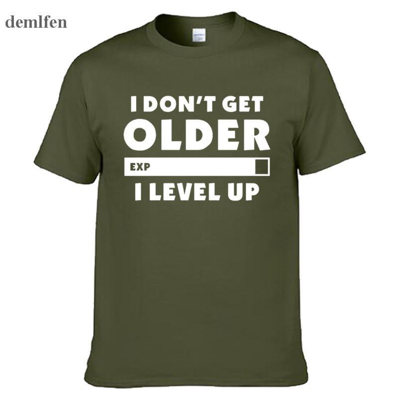Mode ne vieillit pas plus vieux je tiers t-shirt joueurs jeux cadeau d'anniversaire cadeau de Noël hommes femmes manches courtes ô coton t-shirts