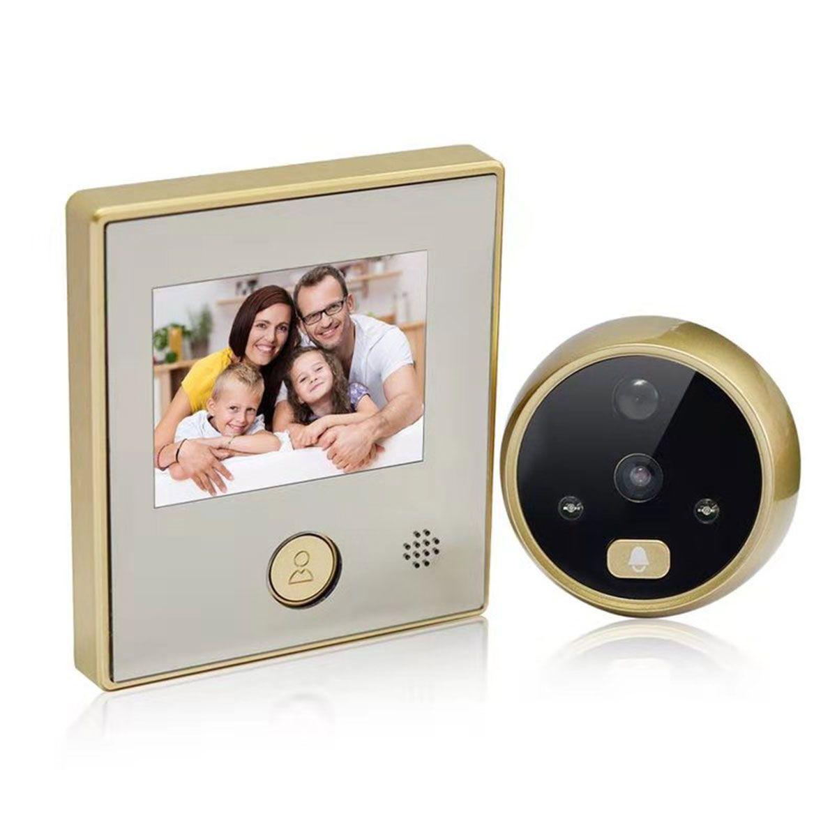 C07 초인종 카메라 디지털 도어 뷰어 3.5 인치 LCD 디스플레이 엿봄 와이드 앵글