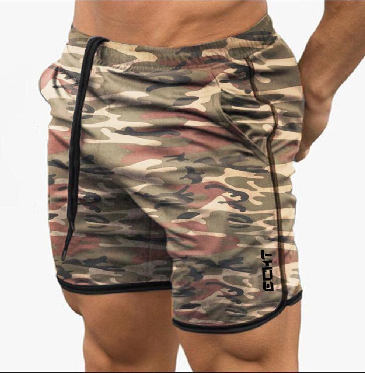 Verão Camuflagem Cor Respirável Fitness Muscle Brothers Sports Shorts Executando calças de secagem rápida lazer apertado