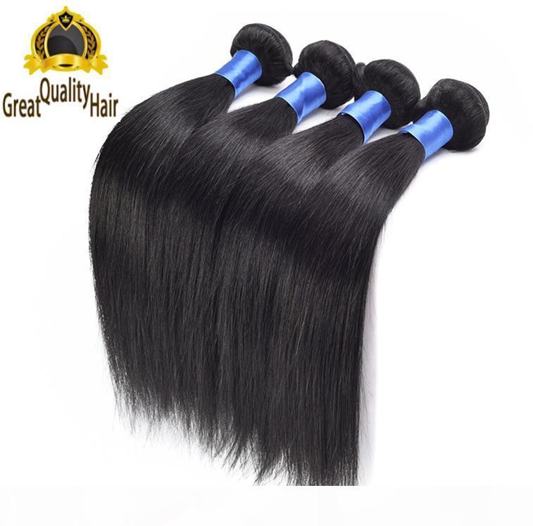 Gümrükleme Satışları !! 8A 8-30 inç Saç Brezilyalı Malezya Perulu Hint İnsan Saç Uzantıları 5 adet Düz Saç Hızlı Teslimat