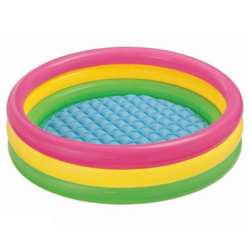 الصيف pvc ثلاثة layerinflatable بركة المحيط الكرة الطفل حوض الاستحمام لينة دائري حوض السلامة السباحة مقاومة للاهتراء تعويم السرير الملحقات