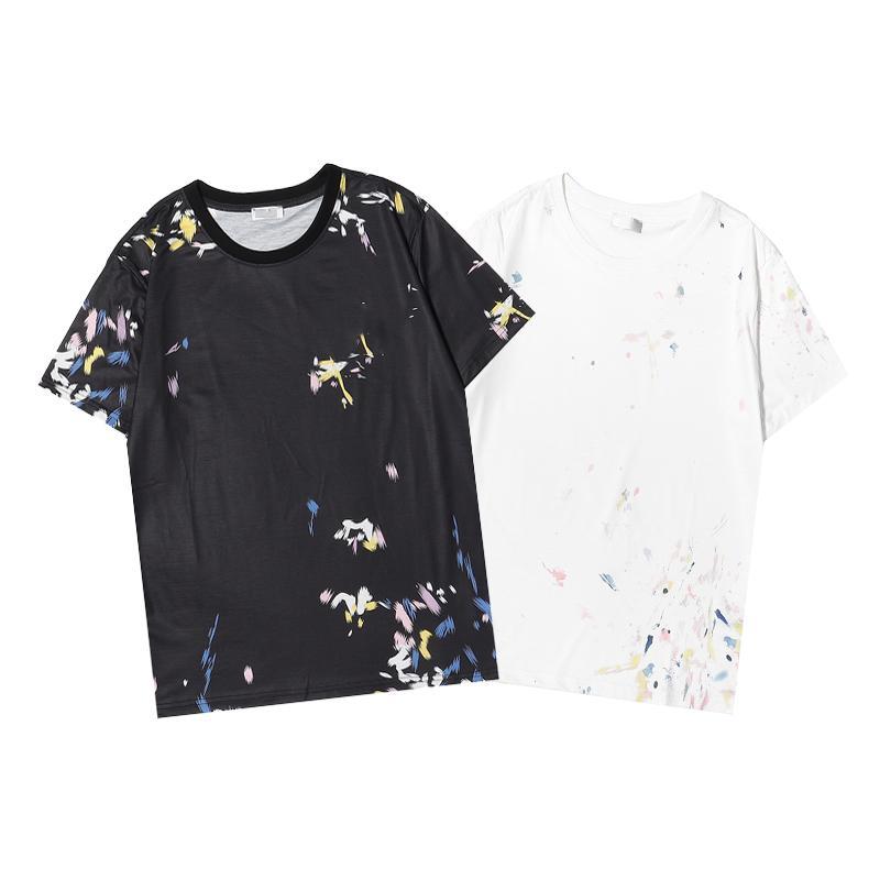Hombres diseñadores T Shirts Mens Pure Cotton Top Brands Bordados con manga corta Tendencia de la camiseta clásica de manga corta para mujer de lujo SS