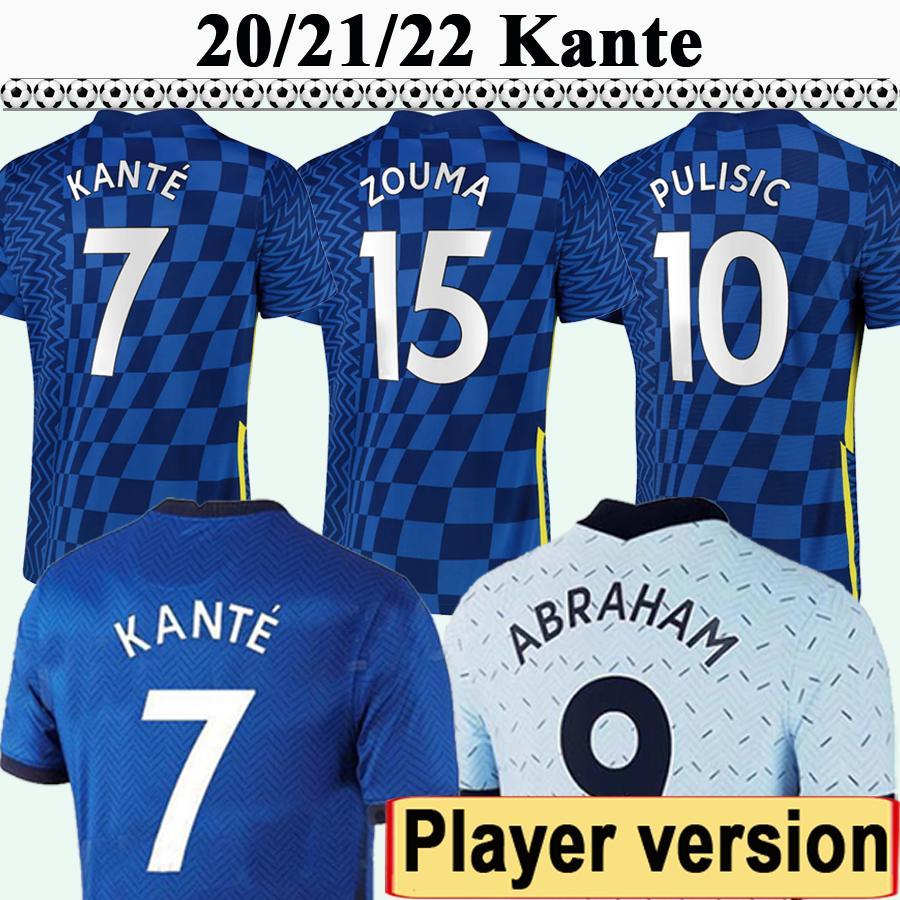 20 21 22 Pulisic Werner Player Version Mens Soccer Jerseys Kante Ziyech Kovacic Giroud Fabregas Jorginho Lampe Lampard Home Away 3ème chemise de football