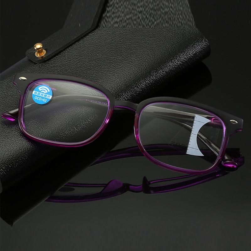 Look retro limitado y cerca de las mujeres anti-azules de lectura multifocal progresiva +0.75 +1.25 +1.5 +2.00 +1.75 a +4 gafas de sol