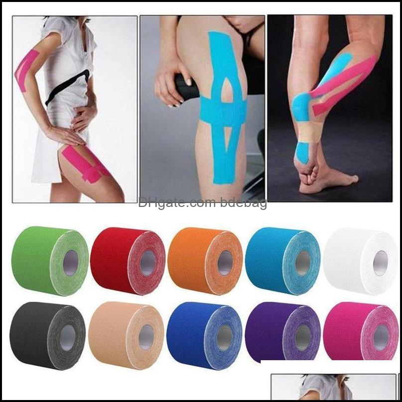 Elbow Safety Athletic Outdoor As Outdoorselbow & Knee Pads 1 Roll 5M*5Cm Kinesiology Elastic Tape Sports Physio Muscle Strain Support Drop D