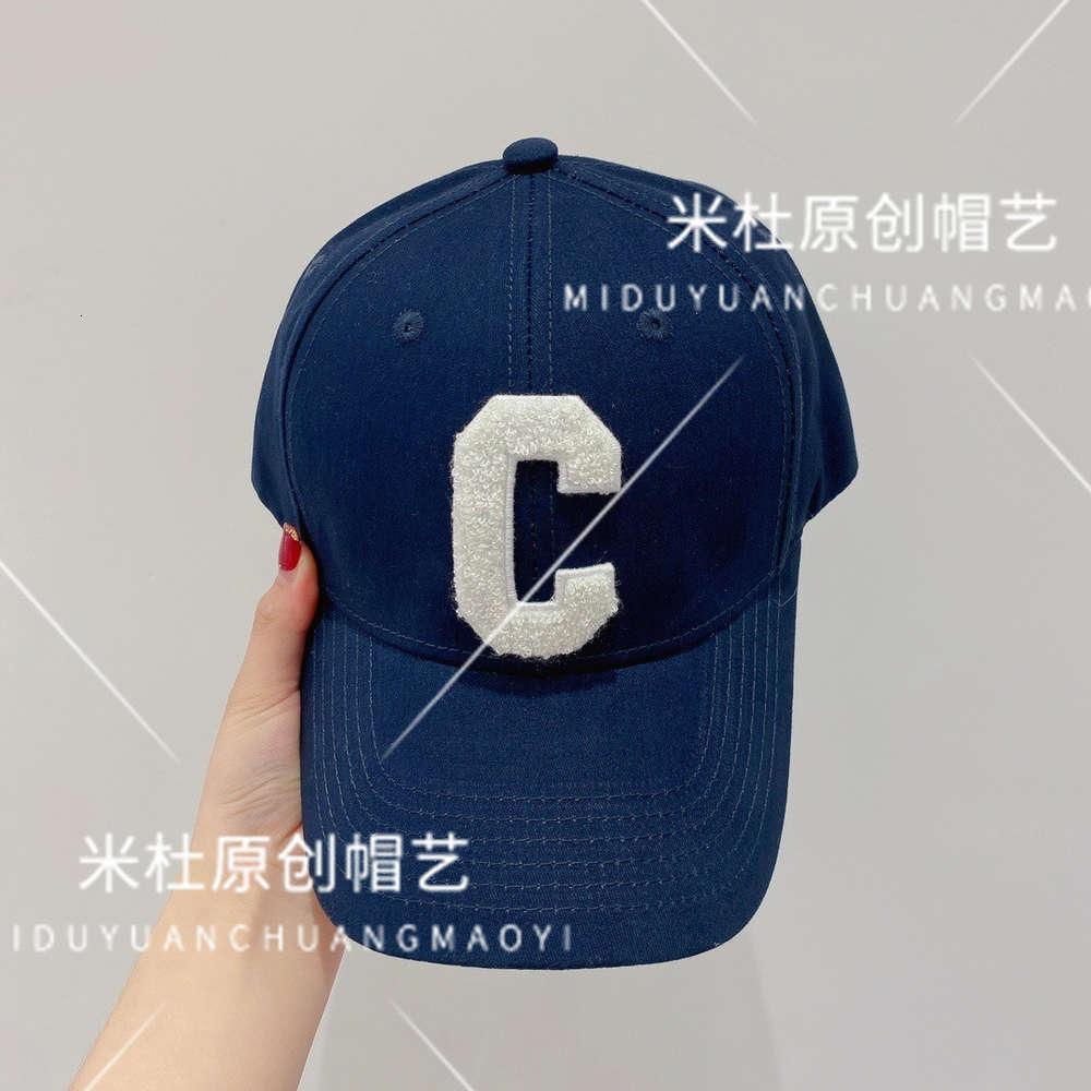 Kap Saijia Bahar ve Yaz C-Mektup Beyzbol Şapkası Nakış Öğeleri Çok Yönlü Trend Kişilik Yetişkin Moda Şapka