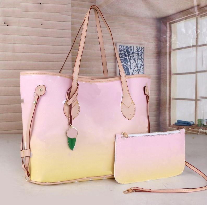 Ücretsiz 44571-3 Nakliye! 2021 Yeni Renk Çanta Büyük Kapasiteli Moda Deri Çanta Kadın Tote Omuz Çantaları Lady Deri Çanta Çanta Çanta 6 Col