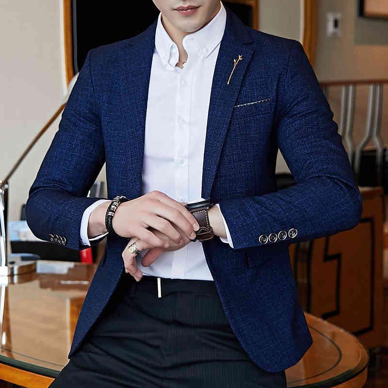 Veste à manches longues Haut de la manches longues Blazer Blazer Manteaux Design Slim Design Hommes Vestes Asie Taille 5XL Hommes Manteau de loisirs