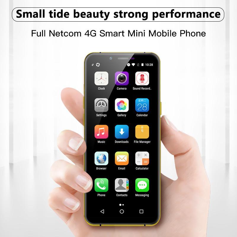 "Unlocked Soyes X60 Mini Smartphone Unterstützung Google Play 3GB 32GB 3,5 ""1800mAh Android Mobiltelefon Gesicht ID LTE 4G Studenten Handy"