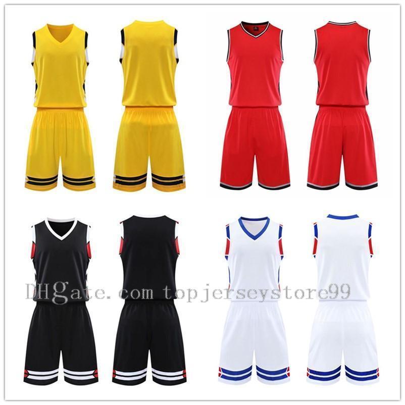 2021 Team Basketball jersey Men pantaloncini da basket sportswear Running clothes White Black Red Purple Green 36 1103