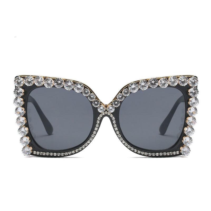 Óculos de sol Luxo Strass Mulheres Nova Moda Cristal Feminino Vintage Gato Olho Sexy Senhoras Na Moda Alta Qualidade ShadesYlyu