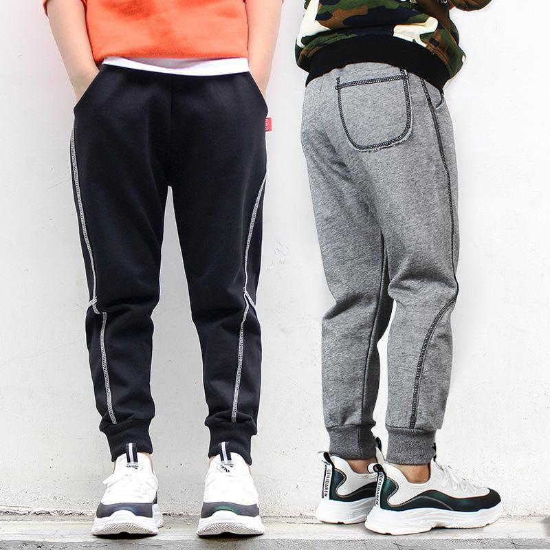 Детские брюки повседневные брюки свитер для мальчиков хлопчатобумажные брюки для мальчика Мягкие дна весенние брюки