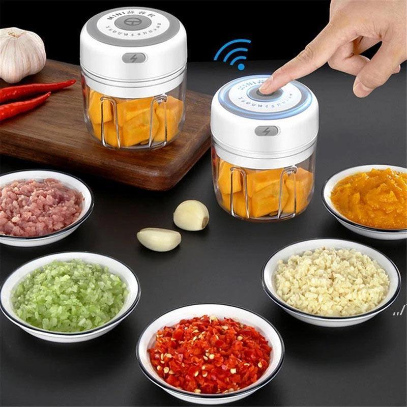 Чеснок Masher Press Tool USB беспроводной электрический Mincer овощные чили мясорубка для мясорубки еда дробилка чомпер кухонные аксессуары AHD5777