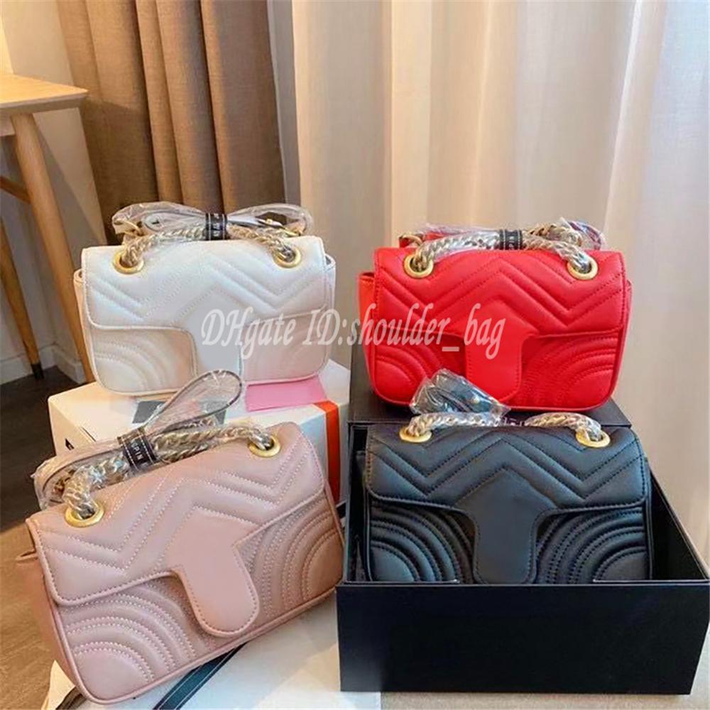 Dame Mode Handtaschen Luxus Designer Taschen Welle Muster Kette Einzelner Umhängetasche Retro Metallzubehör Praktische Perfekte Kreuz Body Bag