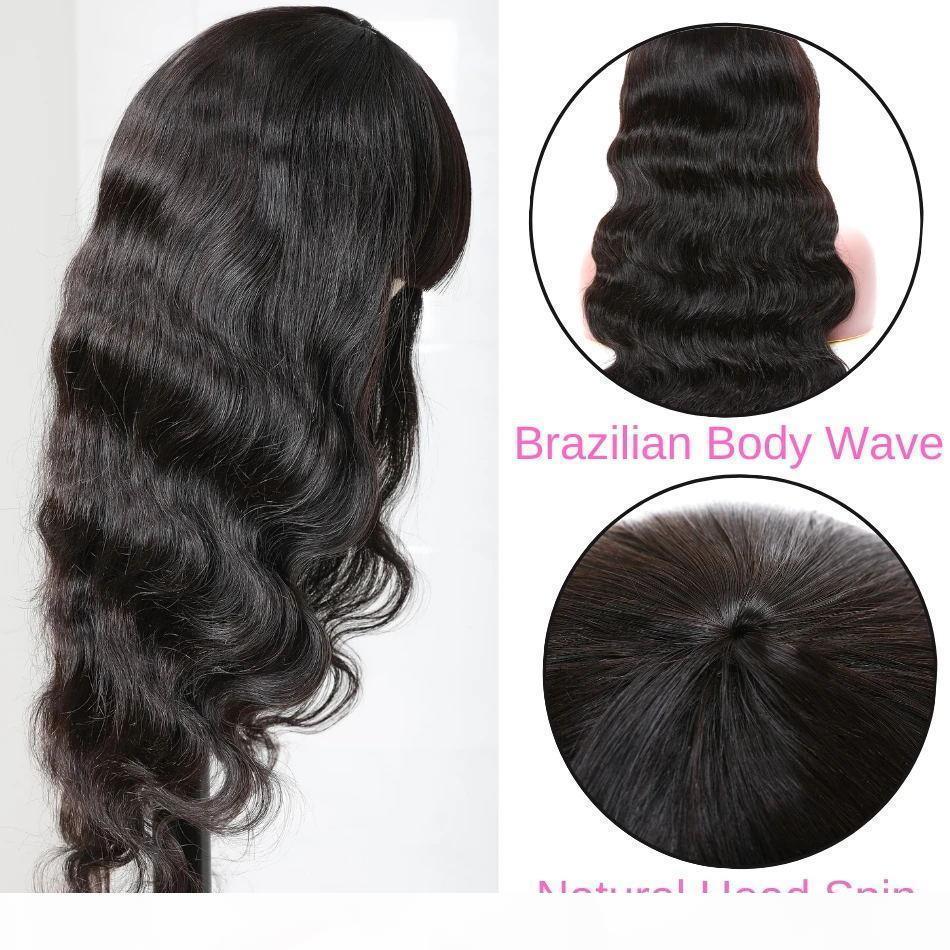Brasilianische lose tiefe gerade menschliche Haarperücken mit Pony peruanisch lockig niemand Spitze Perücken indisches Haar Malaysische Körperwelle
