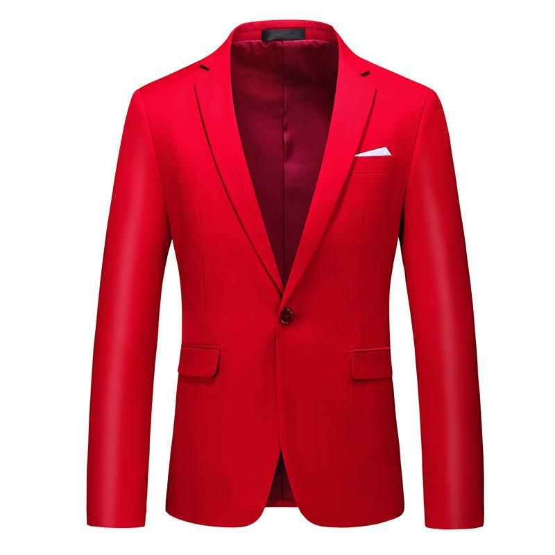 PLUS Taille Casual Homme Manteaux Slim Fit Fit Rouge Black Mariage Mariage pour Homme Fête Robe Blazer Jacket M-6XL