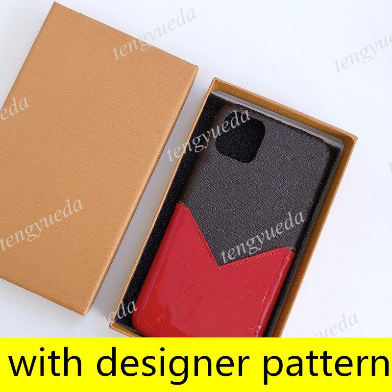 مصمم الأزياء زهرة الحالات الهاتف لآيفون 12 11 برو ماكس XS XR XSMAX 7 8 زائد براءات الاختراع بطاقة جيب الهاتف المحمول غطاء مع سامسونج note20 note10 S20 S10