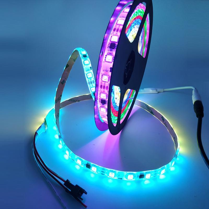 Светодиодная полоса Адресментируемая пиксель светло-цветовые ленты гибкая цифровая лента 1 IC контроль 3 полоски