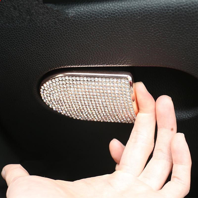 Coffret de siège de voitures Boîte à gants Bouton Bouton Cristaux Stickers Stickers Stickers Teck Arrêt pour Mini Cooper F54 F55 F56 R55 R56 Autre intérieur