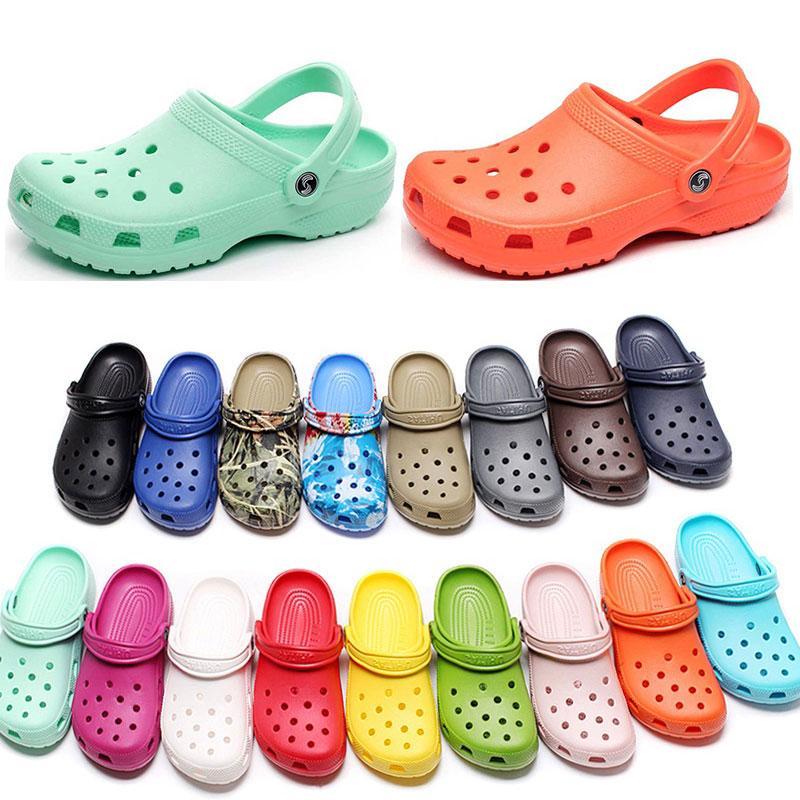 캐주얼 해변에서 여성 패션 슬립 방수 신발 남성 클래식 간호 Clog 병원 여성 슬리퍼 작업 의료 샌들 23