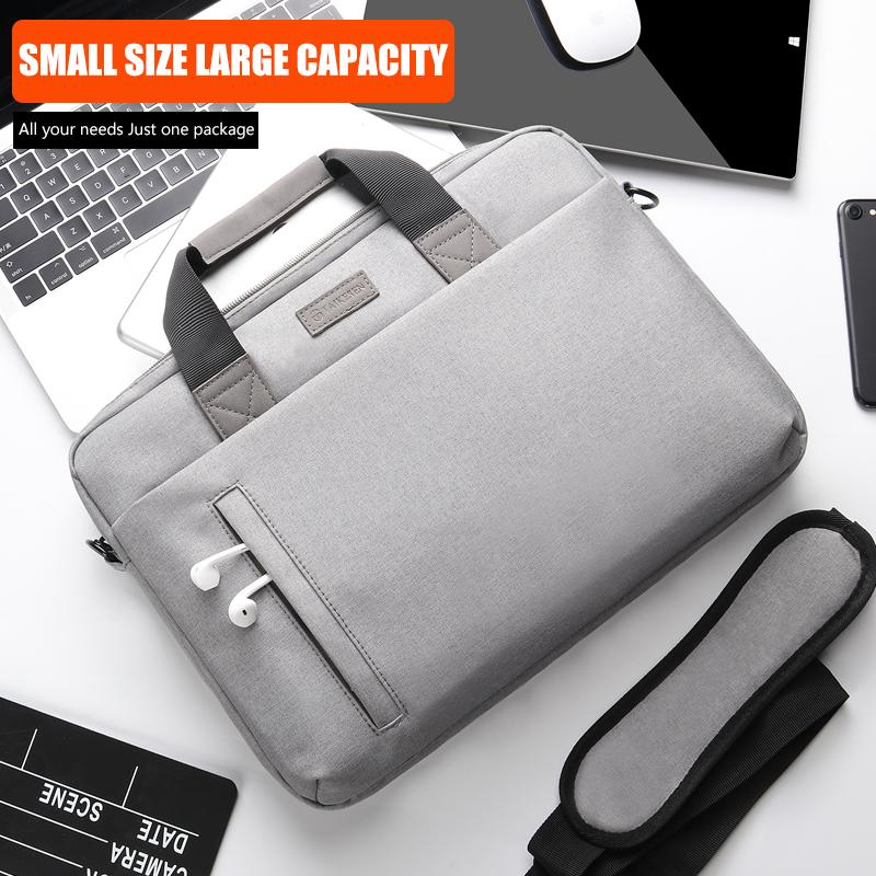 Laptop Cases Handbags Waterproof Notebook for Macbook Air Pro 13 15 Computer Shoulder Handbag Briefcase Bag Upgrade expanded version