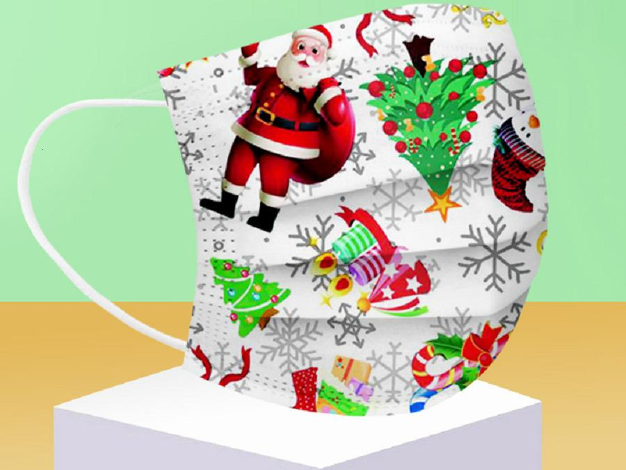 Factory Design masks Christmas Masks Disposable 50pcs 3-layer Face Protection and Personal Health with Earloop Mouth X'm