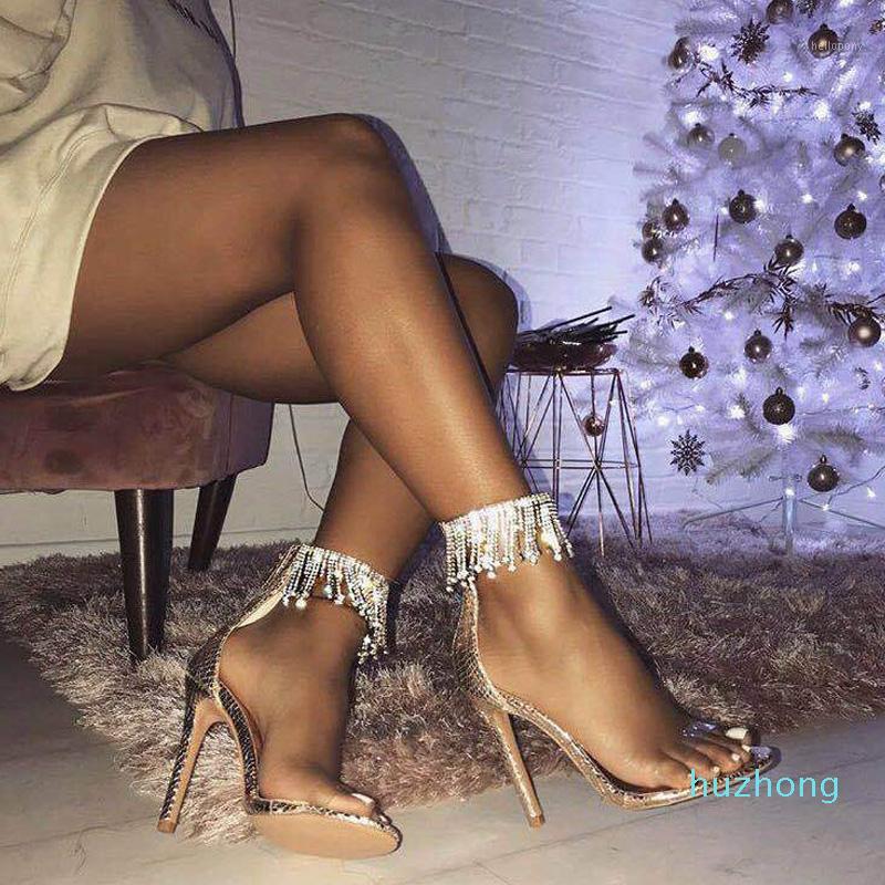 Fashion-sexy talons luxe strass femme pompes transparentes chaussures femmes sandales gelée PVC clair talons hauts talons talons aiguës