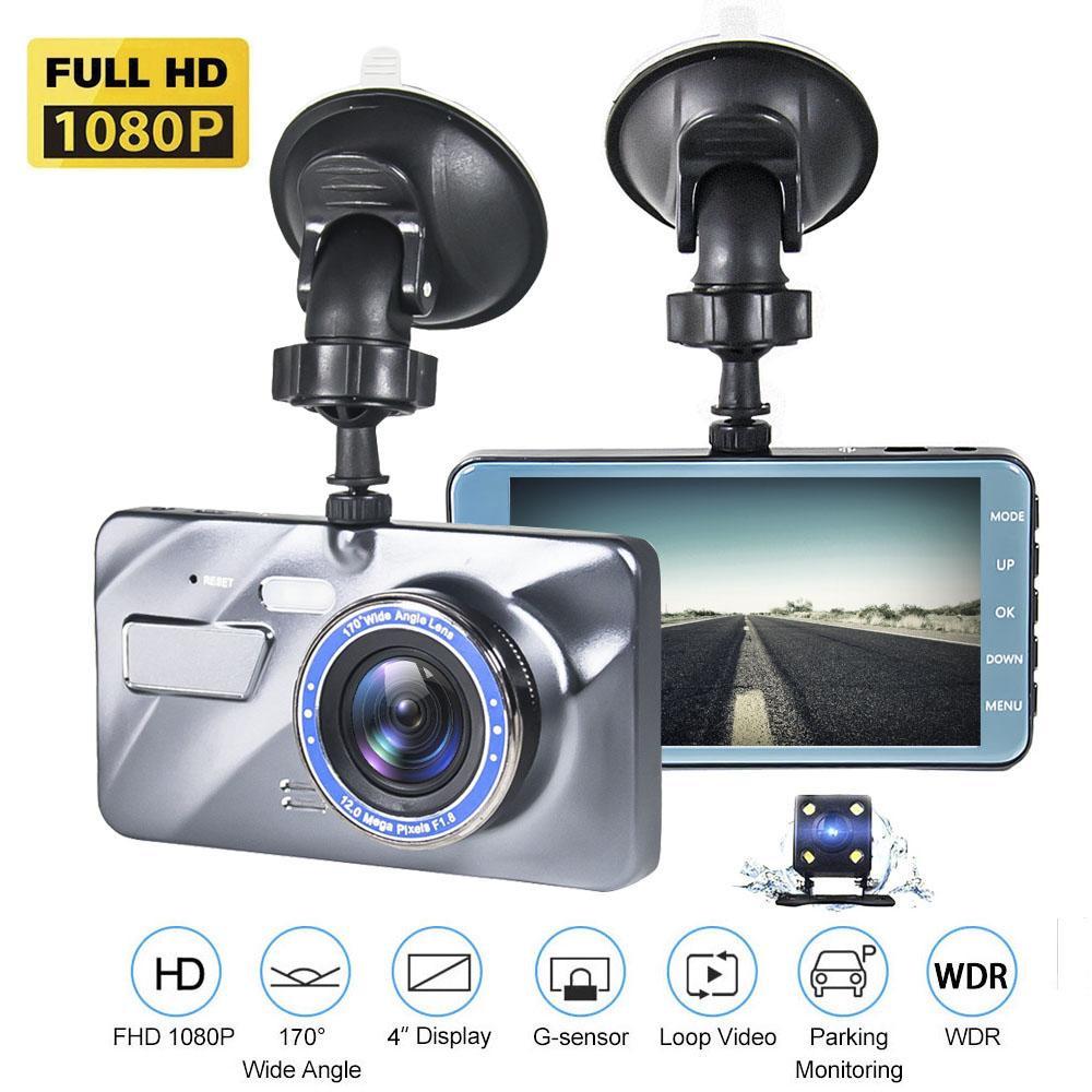 Full HD 1080p Car DVR Camera Auto 4 pollici Specchietto retrovisore Digital Videoregistratore Digital Videoregistratore Dual Lens Distanziatorio Camcorder 2.5D Dash Cam T6