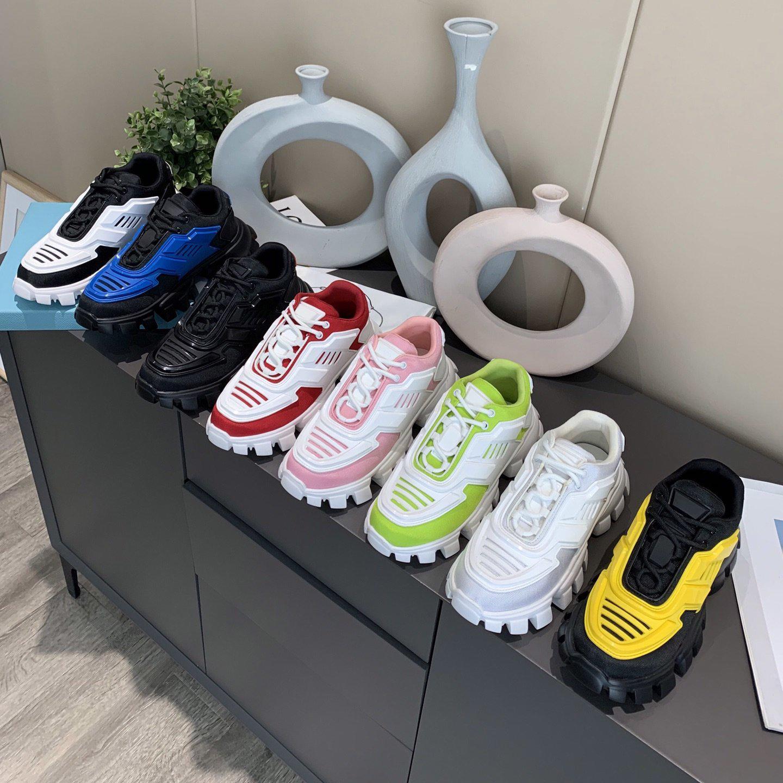 Hommes Femmes Casual Chaussures Cloudbust Thunder Sneakers 19fw P Camouflage Capsule Série Couleur Couleur Correspondant Augmentation de la plate-forme Baskets en caoutchouc