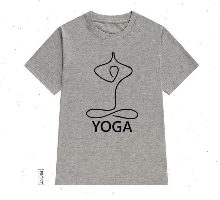 Womens T-shirts Einfaches Yoga-Frauen-T-shirt Baumwolle lässig lustiges Hemd Lady Yong Girl Top T-Stück 5 Farben Drop Ship