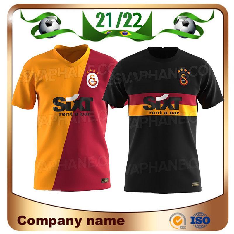 21/22 Galatasaray Futebol Jerseys 2021 Home Gomis Cigerci Belhanda Fernando FeGhouli SNEIJDE Camisa de Oztekin Third Away Futebol Uniforme