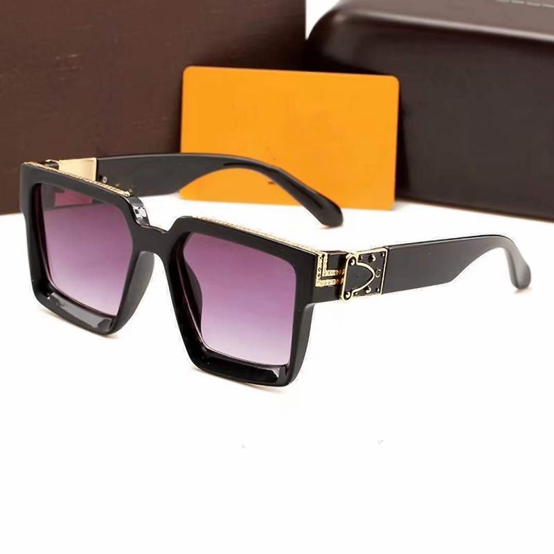 2021 роскошные топовые солнцезащитные очки для мужчин и женщин Универсальная классическая мода квадратная рамка Летние солнцезащитные очки дизайнер оптом высокий Quali