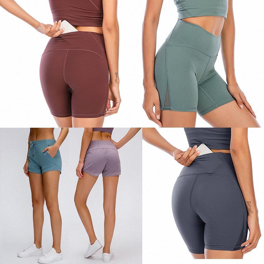 2021 Estilista de mujeres Lu Shorts Vfu Yoga Pantalones Leggings Yogaworld Mujeres Entrenamiento Entrenamiento Conjunto de fitness Use Lady Elástico Mallas Llantas Sólidas H9A7 #