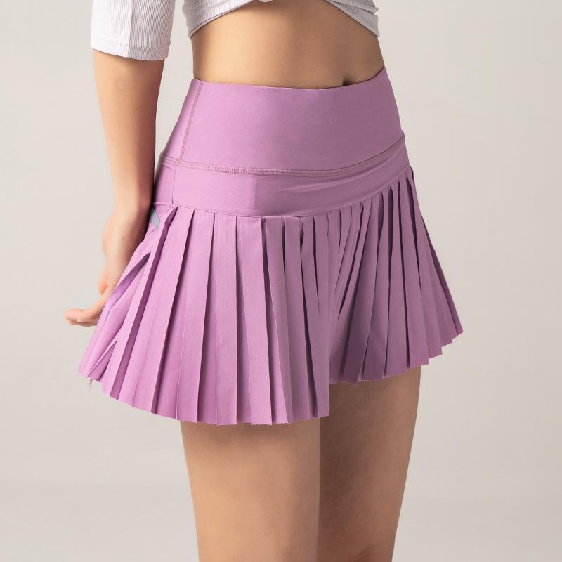 2021 Frauen 2 in 1 gefaltete Röcke Laufen Shorts Gym Fitness Schnelltisch Tennis Sport Yoga Kurzkleidung DK0985281212
