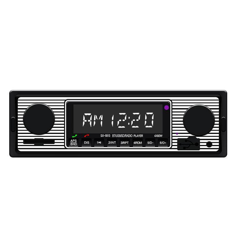 Video de coches 5513 1 DIN Audio STEREO USB FM Radio reproductor MP3 Player Bluetooth Lector de tarjetas de altavoz Flash Drive Tuner