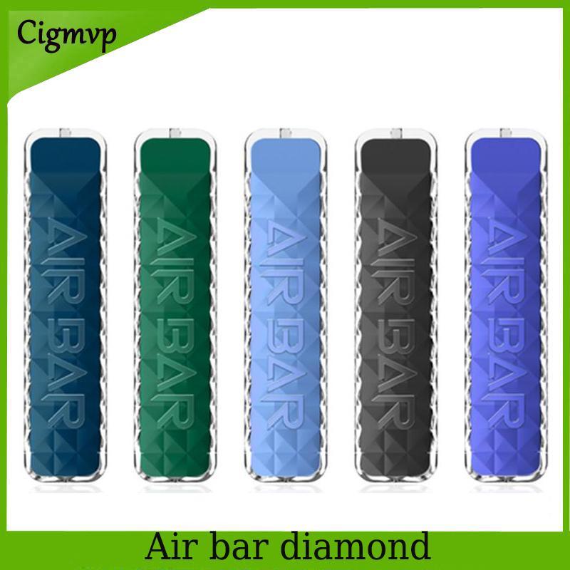 에어 바 다이아몬드 일회용 vape 전자 담배 펜 포드 장치 내장 380mAh 배터리 포드 500 퍼프 Dab 스타터 키트