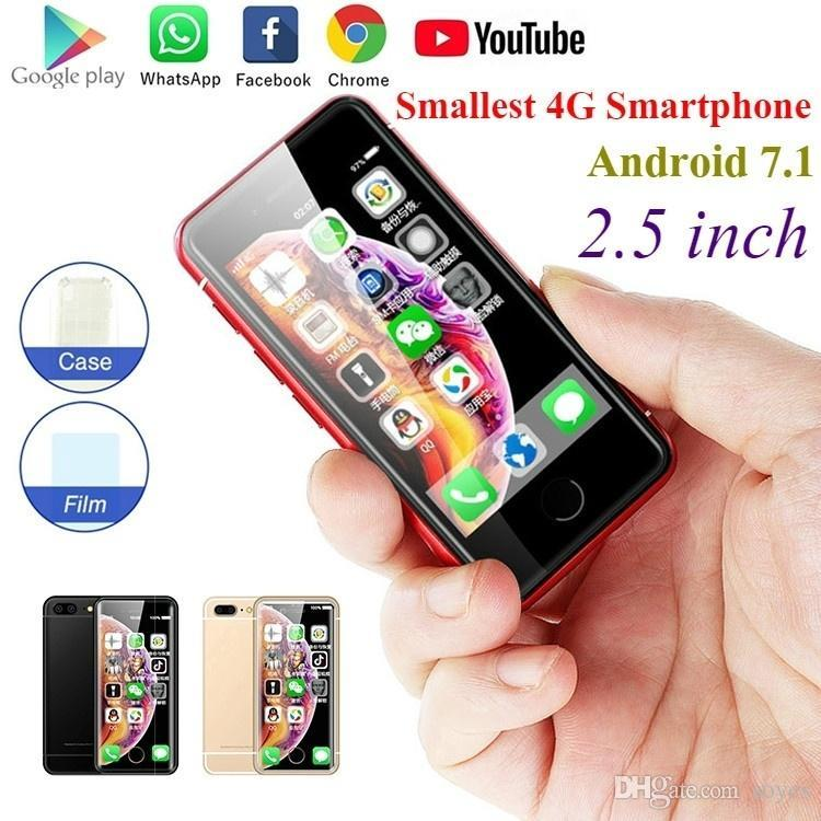 2021 SOYES latest Mini 4g lte celular Smartphone 2GB+16GB Android7.1 1580mAh Mobile Phone Wifi GPS Face Recognition Glass Backup Cellphone