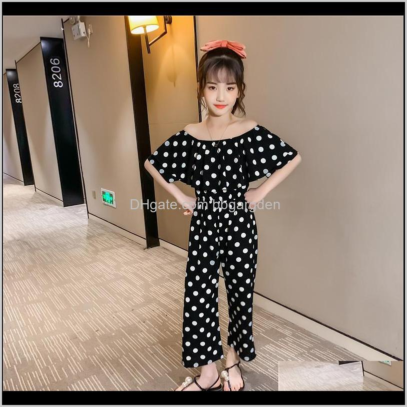 Baby Baby, Kids & Maternitykids Clothes Summer Outfits Teenage Girls Clothing 12 14 Years Word Shoulder Short Sleeve Polka Dot Rompers Childr