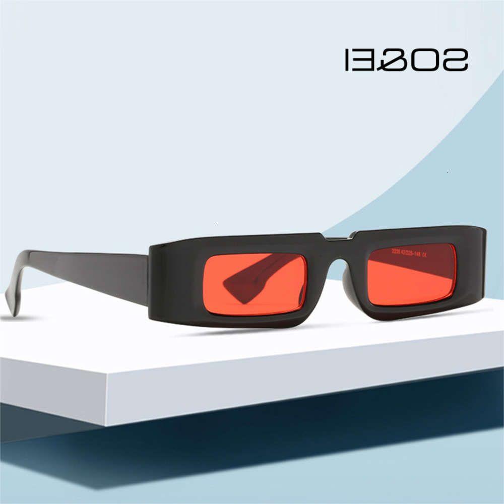 Então ovos vintage pequenos retângulo mulheres moda óculos coloridos homens tendendo champanhe sunglasses uv400