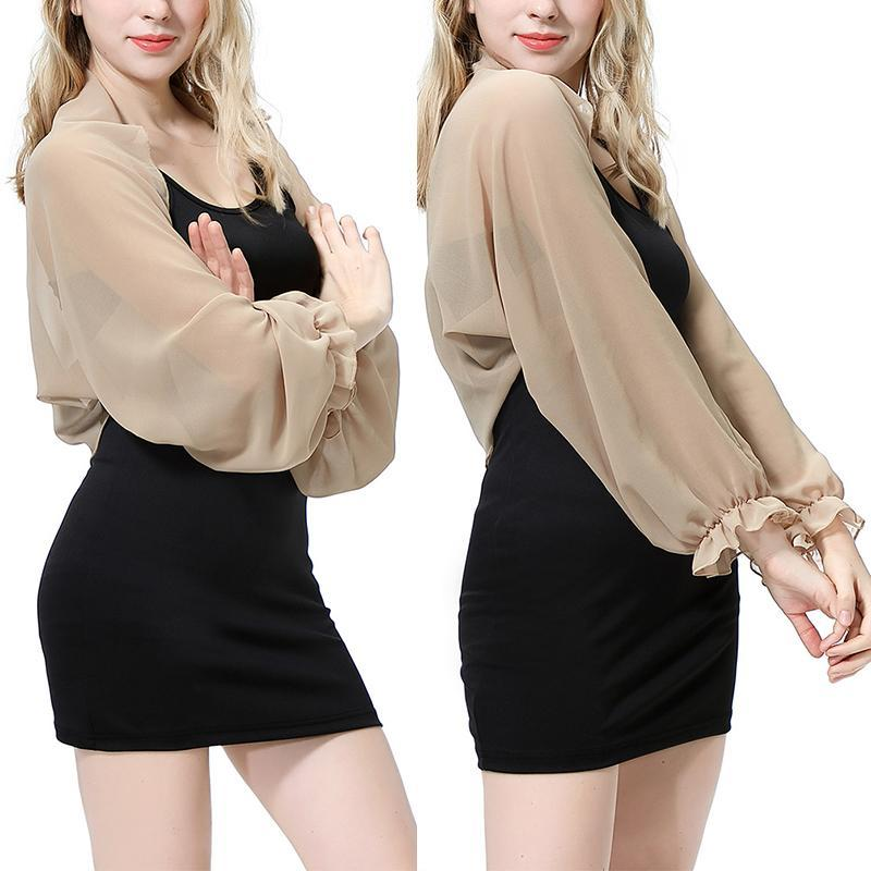 Fashion Cardigan Arm Cover Crop Top Blouse Thin Women Summer Solid Color Long Sleeve Raglan Sunscreen Shirt Scarves