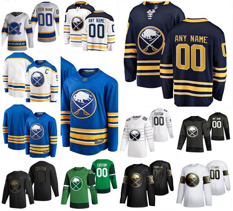 Buffalo Sabers 9 Jack Eichel Hockey Jerseys 53 Jeff Skinner 21 Kyle Okposo 26 Rasmus Dahlin 32 Michael Houser 47 Aaron Dell 사용자 정의 스티치 남성 여성 청소년 저지