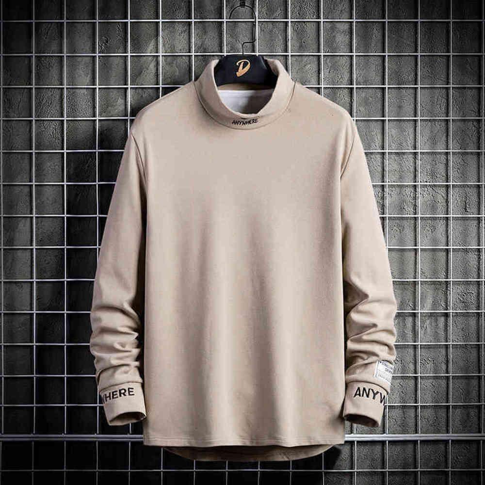 Sonbahar ve kış trendy uzun kollu t-shirt ile erkek eşofman kazağı