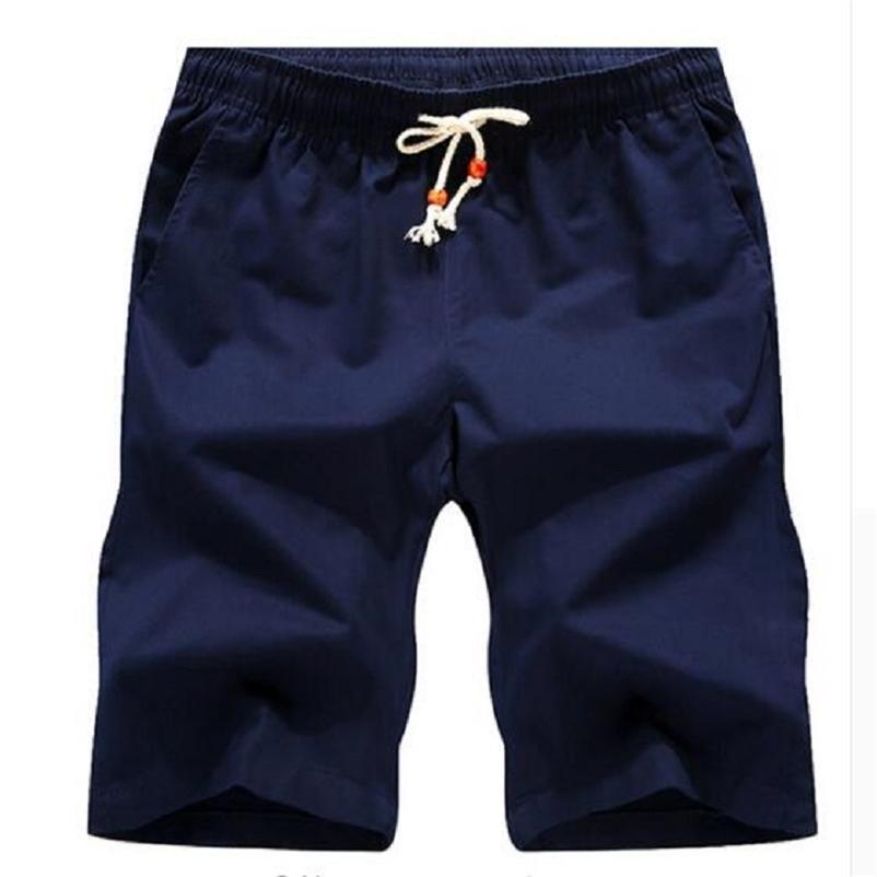 Mais novo verão casual shorts homens algodão estilo moda mens shorts home plus size m-5xl curto para macho 210322