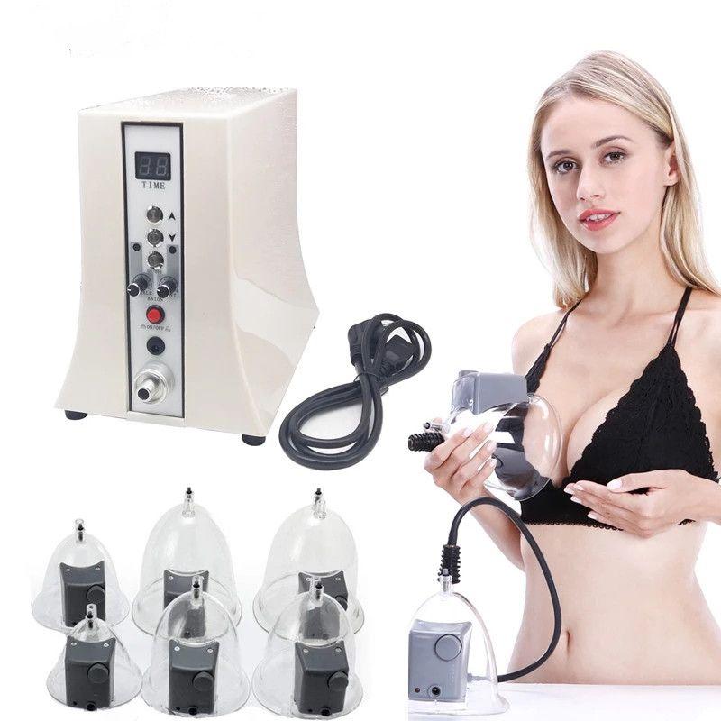 Elektrikli Vakum Terapi Masaj Makinesi Meme Büyütme Buttcock Göğüsler Büyütme Pompası Masaj Meme Bakım Cihazı